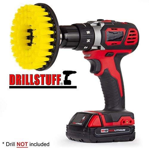 Drillstuff Stromschrubber Bohraufsatz für die Reinigung Duschen 5 x 5 x 3 inches yellow-medium