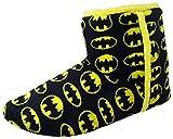 Batman Hombre Pantuflas Negro Amarillo Novedad Pantuflas Bota - negro/amarillo, Negro/Amarillo, 44 EU