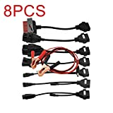 Swiftswan 8 Teile/Satz Professionelle 8 Kabel für Auto Multi-Diagnose-Werkzeuge (Farbe: Schwarz)