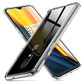 ORNARTO HD Clear Case for OnePlus 7,9H Tempered Glass Case with Soft Edges, Shockproof and Scratch-Resistant Protection Bumper Case for OnePlus 7(2019)-HD Clear