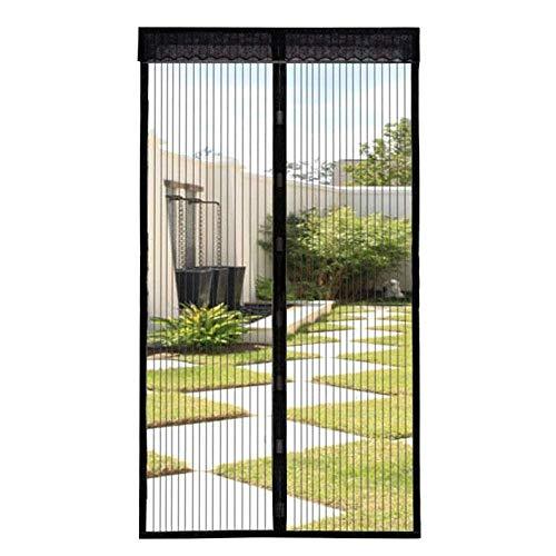 JINMM Magnet Fliegengitter Tür - Magnetvorhang Zum Schutz Vor Insekten, Ideal Für Balkontür, Kellertür Und Terrassentür(Schwarz),80×200cm