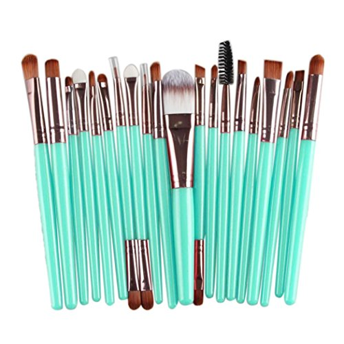 Susenstone 20 pcs Pinceau de Maquillage Set Outils Make-up Kit Toiletry La laine Maquillage Brush Set