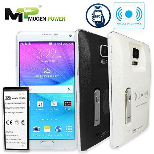 Mugen Power - Samsung Galaxy Note 4 N910 6640mAh Super Extended Battery NFC & Wireless Aufladung Unterstützt mit rückseitiger Abdeckung [Jetzt Angebot 12 Monate Garantie] (Weiß)