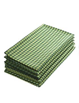 Taschentücher aus Stoff, waschbare, wiederverwendbare Öko Stoff-Taschentücher aus Baumwolle, 5 Taschentücher -...