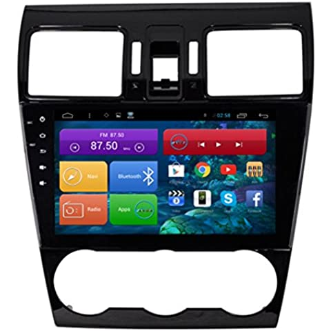 Top Navi 9inch 1024* 600Android 4.4PC Auto Player per Subaru Forester 2015Auto di navigazione GPS WIFI Bluetooth Radio 1,2GB CPU DDR3Capacitivo Touch Screen 3G car stereo audio rubrica RDS AUX Specchio link 16GB Quad Core
