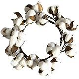 iStary Künstliche Baumwolle Getrocknete Girlanden Blume Kranz Weihnachtskranz Tür Garland Weihnachtskranz, Fenster, Hotel, Einkaufszentrum, Dekorative Festival Blume Ring Anhänger