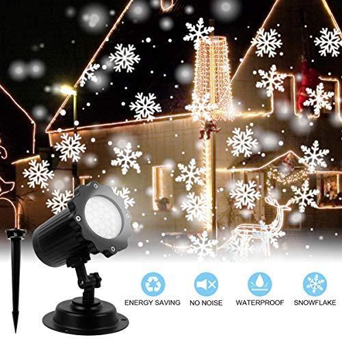 LED Projektorlichter, wasserdichte Schneefall Landschaft im Freien beleuchtet Projektor Scheinwerfer-Feiertags Licht im Freien für Hausgarten-Partei Geburtstags Dekoration