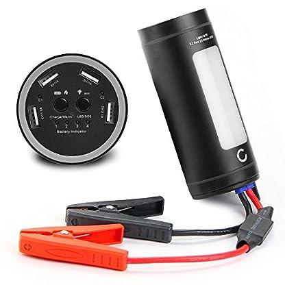 51n0pcV8zxL. SS416  - CELLONIC® 12V Arrancador de Coche, Jump Starter - 4en1: 12000mAh Powerbank (4X USB, 5A MAX.), Panel LED, Función calefacción - Batería Externa, USB Cargador batería vehículos, Arrancador de Autos