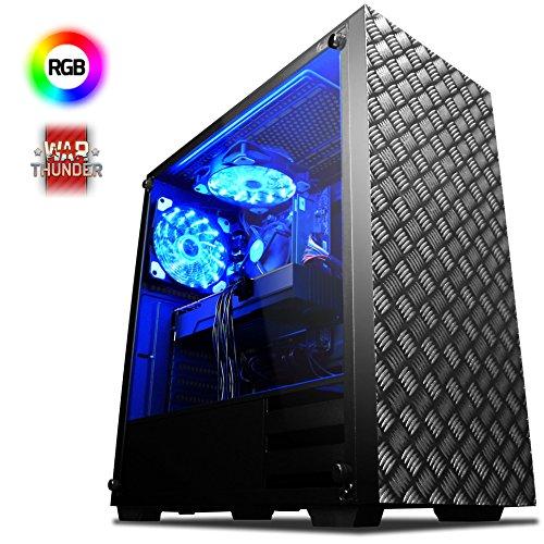 VIBOX Killstreak GL580-25 Gaming PC Computer mit War Thunder Spiel Bundle (4,1GHz Intel i5 6-Core Prozessor, Nvidia GeForce GTX 1080 Grafikkarte, 32Go DDR4 RAM, 1TB HDD-SSD, Ohne Betriebssystem)