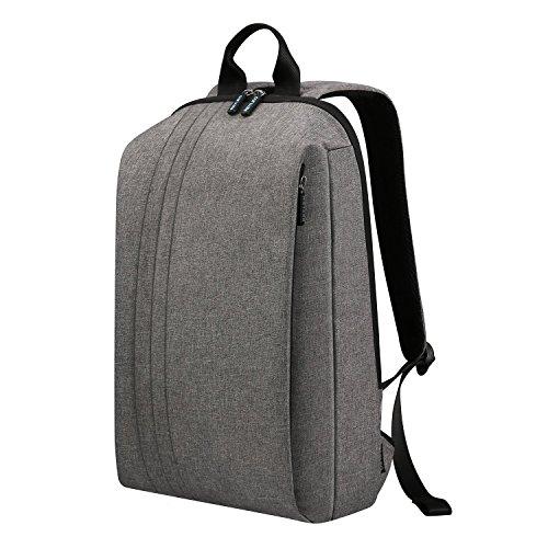 REYLEO Rucksack Herren und Damen Tagesrucksack Daypack Leichtgewichtige Tasche bis zu 14.1 Zoll Laptop Backpack 13 Liter für Büro und Alltag Wasserabweisend - grau