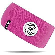 Earebel Lifestyle Slim Headband in Pink - kabellose Übertragung über Bluetooth (Mit integriertem, kabellosen Bluetooth - Kopfhörern und Mikrofon zum Telefonieren)