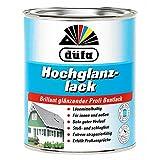 0,75L Düfa Hochglanzlack Buntlack Kunstharzlack Lack RAL 3000 feuerrot