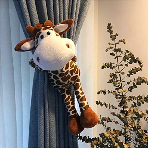 YJSMXYD Raffhalter,Schöne Pelzigen Bären Kinder Schlafzimmer Fenster Vorhang Raffhalter Halten Haken 2 Stücke Giraffe (Pelzigen Bären)