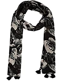 Diwali Special Dream Fashion Poly cotton Black Digital Floral Printed Tassel Scarf, Stole For Women's, Girl's (Na11