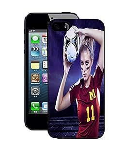 Fuson 2D Printed Sport Girl Designer Back Case Cover for Apple iPhone 5S - D751