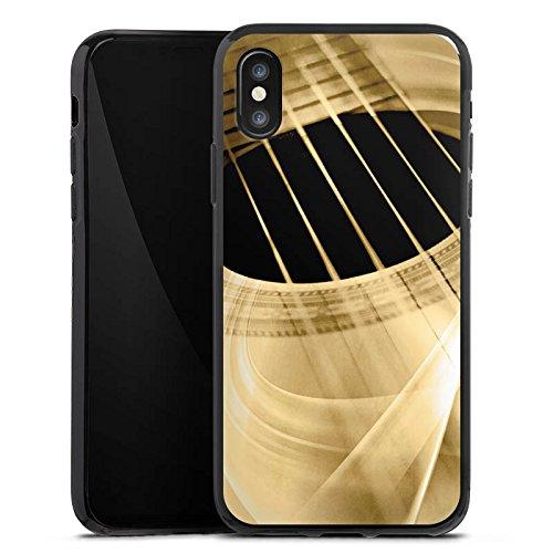 Apple iPhone 7 Silikon Hülle Case Schutzhülle Gitarre Instrument Saiten Silikon Case schwarz