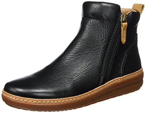 Clarks Damen Amberlee Rosi Stiefel, Schwarz (Black Leather), 39 EU (Damen Schuhe Clarks)