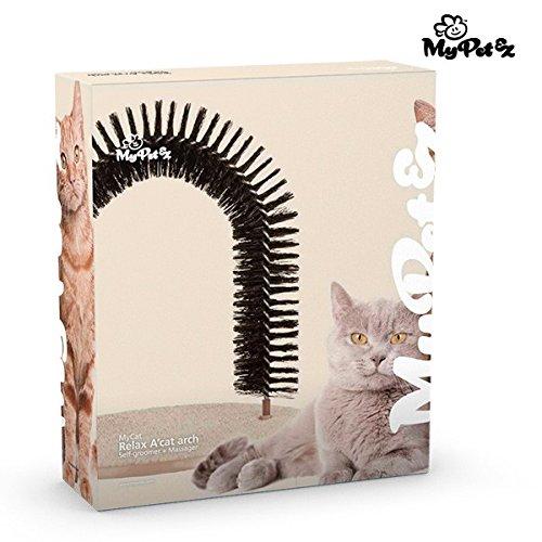 My Petez Massage und Enthaarungsbogen für Katzen, inkl. Katzenminze - 5