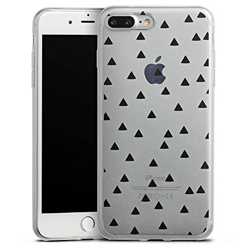 Apple iPhone X Slim Case Silikon Hülle Schutzhülle Transparent mit Muster Dreiecke Triangles Silikon Slim Case transparent