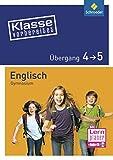 Klasse vorbereitet - Gymnasium: Übergang 4 / 5 Englisch: mit Audio-CD
