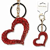 Cuore modello strass portachiavi in metallo portachiavi portachiavi Keyfob Fashion ciondolo borsetta/borsa a mano decorazione