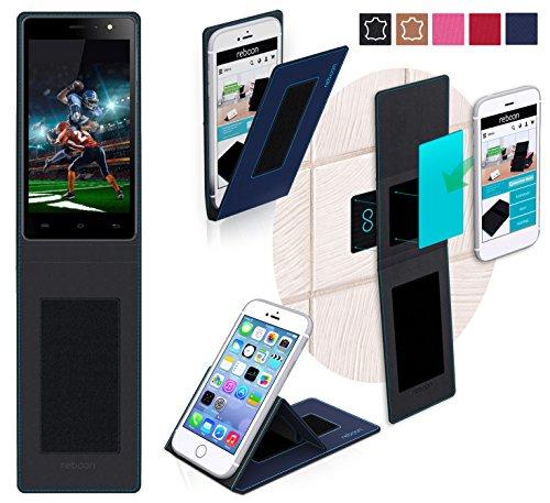 Funda para Xolo Era X en Azul - Innovadora Funda 4 en 1-Anti-Gravedad para Montaje en Pared, Soporte de Smartphone en Vehículos, Soporte de Smartphone - Protector Anti-Golpes para Coches y Paredes sin necesidad de herramientas o pegamento - Funda de Reboon para Xolo Era X Original