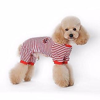 Doggie Style Store Red Striped Dog Pet Cat Pyjamas Sailor Anchor Pajamas Jumpsuit Nightwear Onesie Suit Size S 19