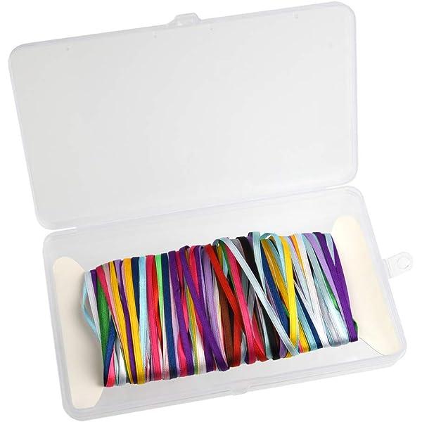 10 x 1 Metre-Double Satin Ribbon Bundle 5mm-6mm-Assorted Colours-Craft-Trim