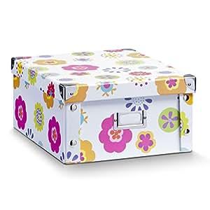 zeller 17852 boite de rangement en carton pour enfants 31 x 26 x 14 cm cuisine maison. Black Bedroom Furniture Sets. Home Design Ideas