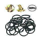 Xhuan - Anelli per Piante rivestite di plastica, 100 Pezzi, Colore: Verde Scuro
