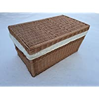 Wicker Extra Large Storage Basket with Lid 42x Extra Large 80cm Wicker Chest