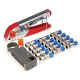 ChaRLes F-Tipo Di Compressione Crimper Utensile Manuale A Crimpare Cavo Coassiale Rotativo Cutter