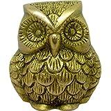 "Plusvalue Brass Owl Feng Shui Vastu Statue Idol Symbol Of Wisdom & Protection 2.5 X 2.5"""