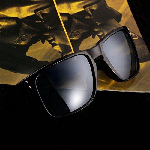 Rahmen schwarz + schwarz Objektiv Retro Sonnenbrille Eyewear Sport Motorrad Reiten Sport Sun Glasses FL