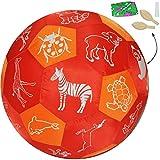 Unbekannt XL - Lernspielball -  Tiere - Informationen - Geschichten & Reime - alle Sprachen !  - Ø 40 cm - Lernspiel Ball - Lernen & Üben & Kennenlernen - Lernball - ..