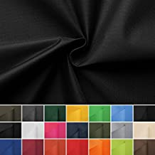 Carry - Lona de tela impermeable - 100% poliéster - 21 colores - Por metro (negro)