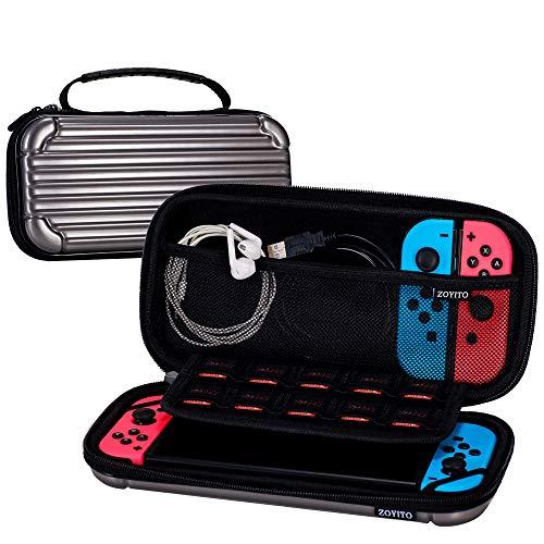 Nintendo switch tasche tragetasche kompatibel mit Nintendo Switch – Aufbewahrungstasche/- Hartschalen Case/Cover/Hülle/Schutzhülle für die Verwendung mit der Nintendo Switch Konsole & Accesoires