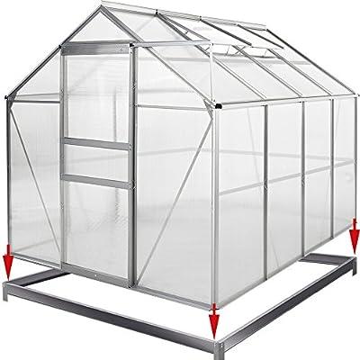Deuba Gewächshaus Alu Fundament Treibhaus Gartenhaus Frühbeet Pflanzenhaus Aufzucht von Deuba - Gartenmöbel von Du und Dein Garten