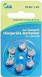 tka Hörgerätebatterie: Hörgeräte-Batterien ZA-13 (PR48) Zink-Luft 1,4 V, 6er-Sparpack (Hörgerätbatterien)