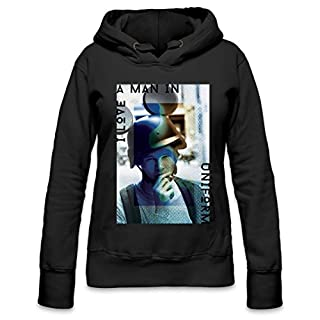 I Love A Man In Uniform Mickey Womens Hoodie Small