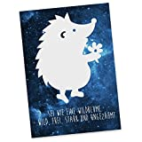 Mr. & Mrs. Panda Postkarte Igel Erwachsene - Igel, Fellnase, Stachelfreund, Winterschlaf, Winterruhe, Herbst Postkarte, Geschenkkarte, Grußkarte, Karte, Einladung, Ansichtskarte, Sprüche