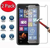 2 Pack - Nokia Lumia 625 Verre Trempé, Vitre Protection Film de protecteur d'écran Glass Film Tempered Glass Screen Protector Pour Nokia Lumia 625