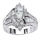 YunYoud Mode Hand Schmuck Cut Diamant Engagement Jahrestag Ring Schmuck silberringe mit stein verlobungsring größe rose ehering siegelring ausgefallene saphir großen goldringe