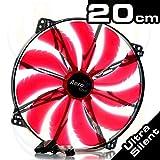 Aerocool Silent Master Ventilateur Avec LED Rouge 200 mm