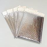Packung mit 10 Kleine metallic Silber gepolsterte Geschenk-DVD schälen und Siegel Briefumschläge