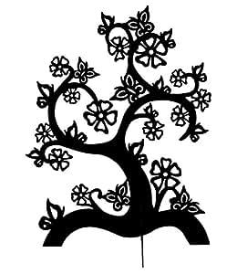 """SIX schwarzer Schmuckbaum """"Magic Garden"""" mit stilisierten Blüten (244-130)"""