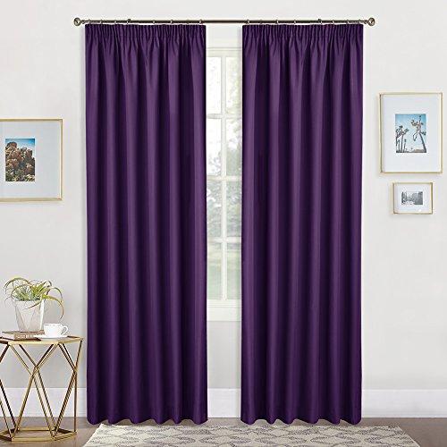 Thermovorhang Blickdicht Vorhang mit Band - PONY DANCE 228 x 228 cm (H x B), Violett 1 Paar Verdunkelungsvorhänge Thermo-Vorhang für Kindergarten, Lichtundurchlässig (Zebra Thermische Vorhänge)