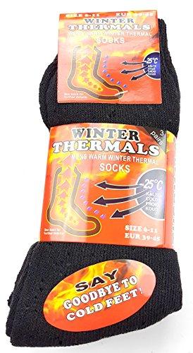 """Preisvergleich Produktbild 3 Paar """"ARCTIC FIRE"""" Thermo Socken - 4mal wärmer als normale Baumwollsocken - bis minus 25 Grad geeignet"""