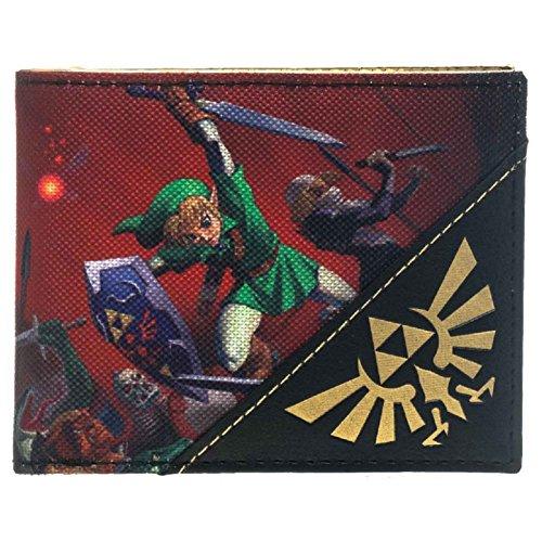 Nintendo Zelda Brieftasche Ocarina Triforce logo offiziell Nue Bifold