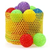 chiwava 3,6cm Katzenspielzeug Ball mit Glocke Kunststoff bunt Maserung Ball Pet Kitten Catch Chase Play